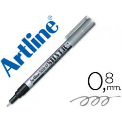 Rotulador artline marcador permanente tinta metalica ek999 plata punta re