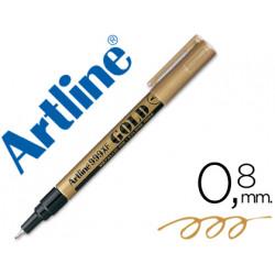 Rotulador artline marcador permanente tinta metalica ek999 oro punta redo