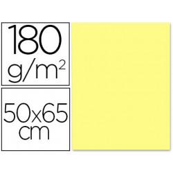 Cartulina liderpapel 50x65 cm 180 gr amarillo medio unidad