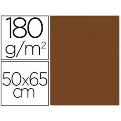 Cartulina liderpapel 50x65 180 gr marron paquete de 25