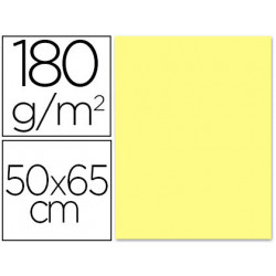 Cartulina liderpapel 50x65 180 gr amarillo medio paquete de 25