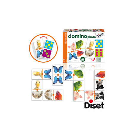 Juego diset didactico domino photo animals