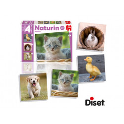 Juego diset didactico naturin foto animals