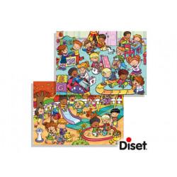 Puzzle diset parque y habitacion de juegos 2 x 20 piezas