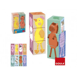 Puzzle goula 6 cubos apilables match & mix