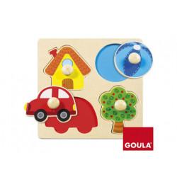 Puzzle goula madera color 4 piezas