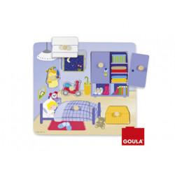Puzzle goula madera habitacion 7 piezas