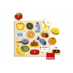 Puzzle goula madera in & out 14 piezas