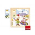 Puzzle goula madera invierno 16 piezas