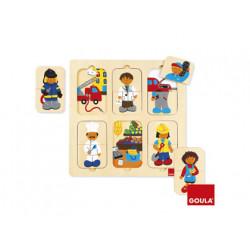 Puzzle goula madera profesiones 12 piezas
