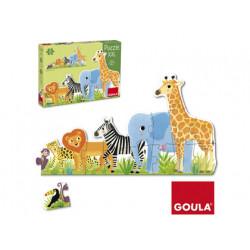 Puzzle goula xxl decreciente selva 16 piezas
