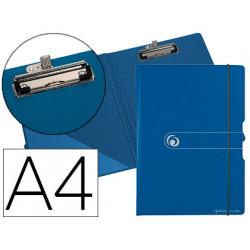 Carpeta herlitz con pinza superior a4 polyfoam azul oscuro / gris cierre go