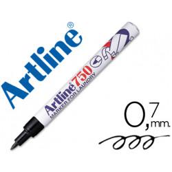 Rotulador artline marcador ropa 750 negro punta redonda 07 mm ropa papel