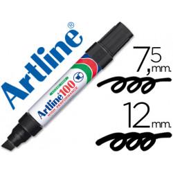 Rotulador artline marcador permanente 100 negro punta biselada