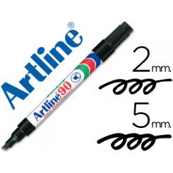 Rotulador artline marcador permanente ek90 negro punta biselada 5 mm pap